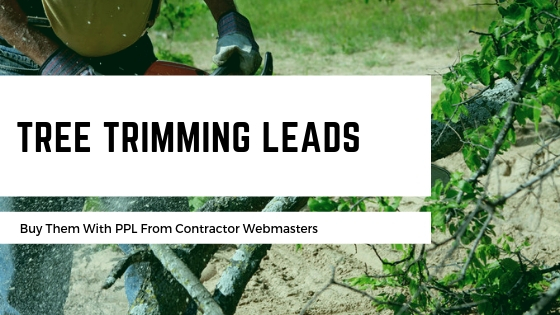 Buy Tree Trimming Leads Promotional Graphic