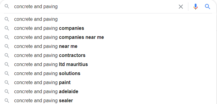 Concrete Google Autosuggest