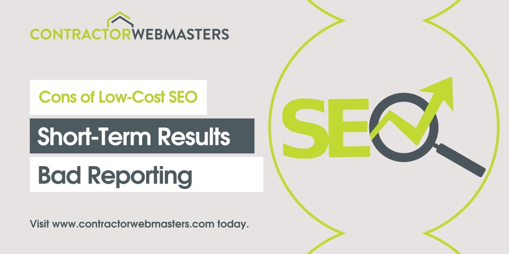 Cons of Low-Cost SEO