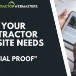 Contractor Website Social Proof Banner