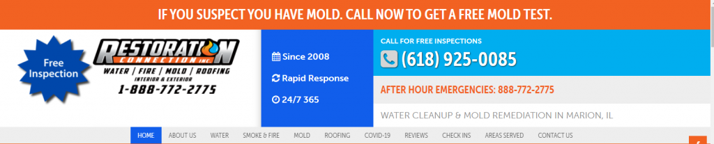 Custom Water Restoration Websites