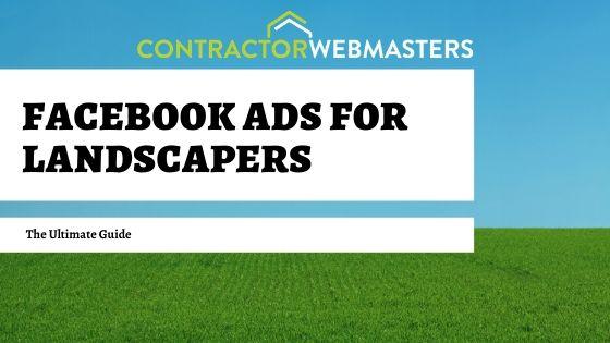 Facebook Ads for Landscapers Cover