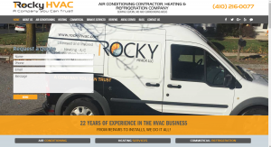 Desktop View of HVAC Website
