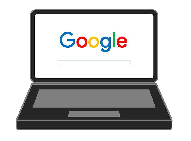 Google Laptop Drawing