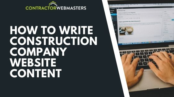 How To Write Construction Company Website Content Banner