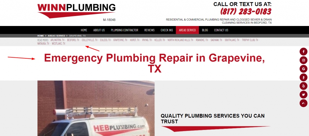 Local Plumbing Content