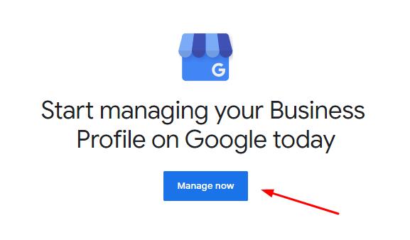 Manage Google My Business Screenshot