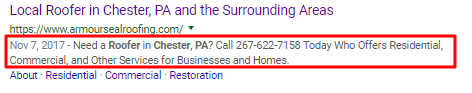 Meta Description for Roofing Company