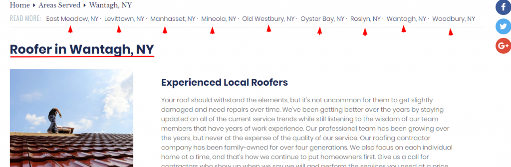 NY Roofer Location Page