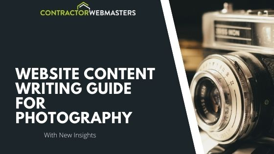 Photography Content Writing Guide