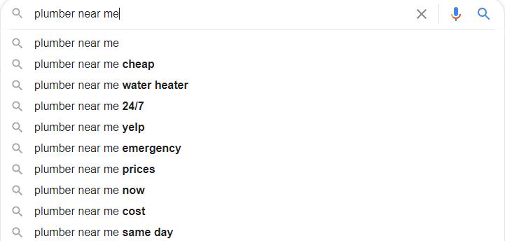 Plumber Google Autosuggest