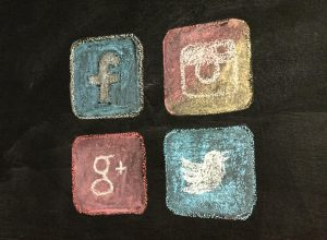 Social Media Logos on Blackboard