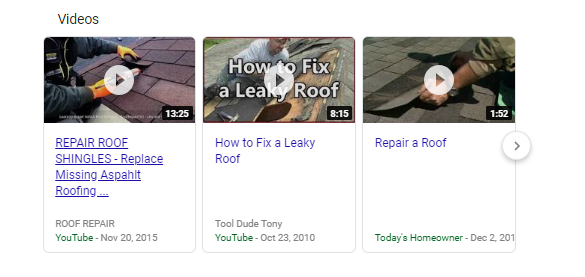Video Results for Roof Repair