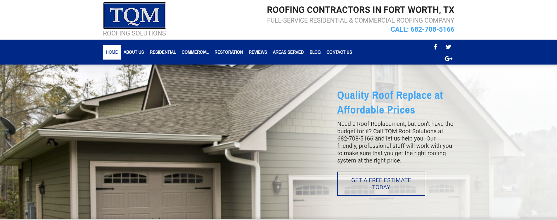 Website Design for Roofing Company
